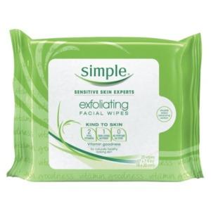 simple exfoliating wipes